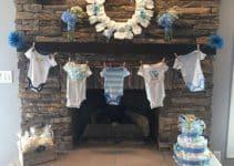 Diseños de murales para baby shower faciles de hacer
