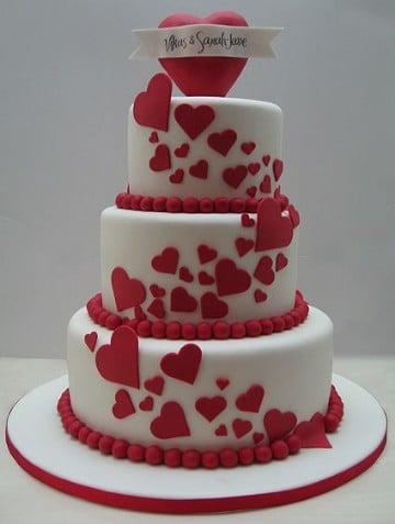 pasteles de san valentin amor