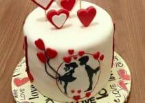 Imagenes con diseños de pasteles de san valentin