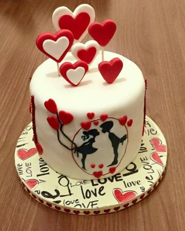 pasteles de san valentin decoradas