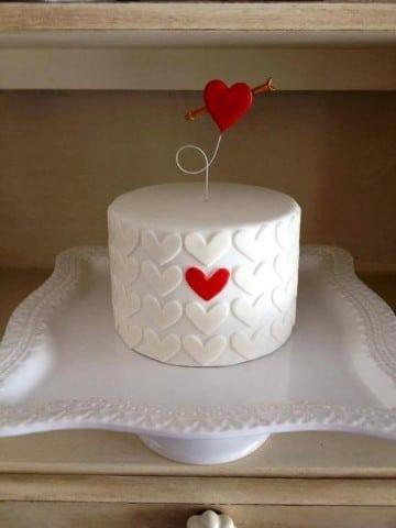 pasteles de san valentin enamorados