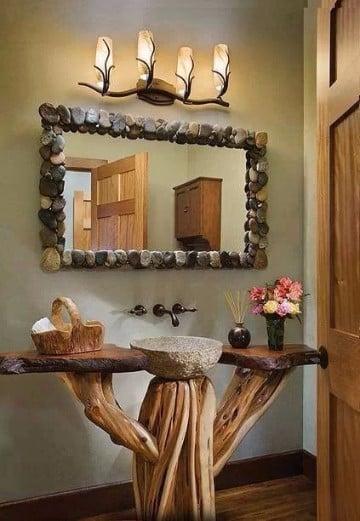 Troncos de madera decorados para adornar y sentarse - Arboles secos decorados ...