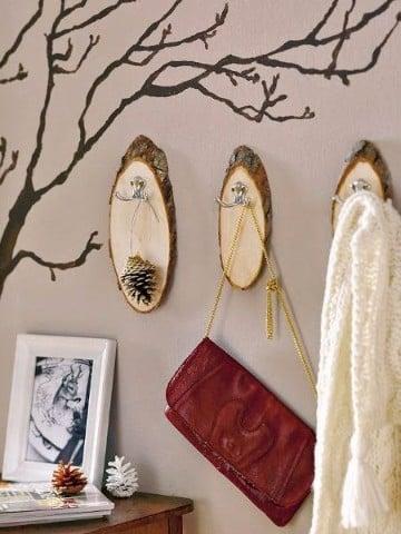 troncos de madera decorados decoracion