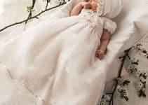 Hermosos diseños de vestidos blancos para bautizo