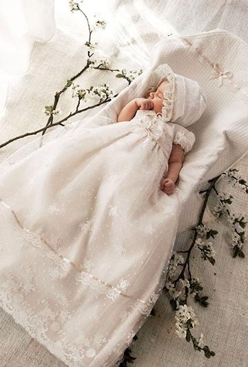 vestidos blancos para bautizo bebe