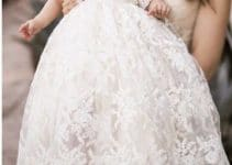 4 modelos bonitos de vestidos de bautismo de invierno