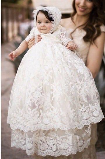 vestidos de bautismo de invierno de niña
