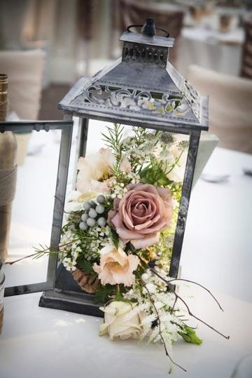 adornos para boda en jardin centro de mesa