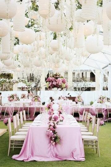 adornos para boda en jardin mesas