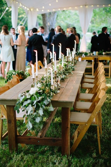 adornos para boda en jardin velas