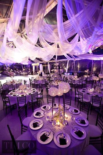 adornos para salon de fiestas bodas