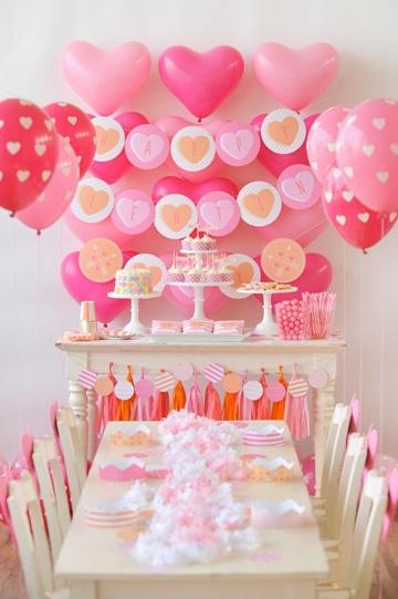 arreglos para cumpleaños de niña con globos