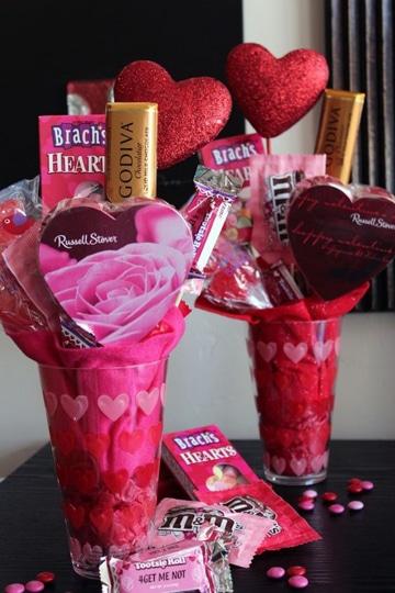 arreglos para el 14 de febrero con dulces romantico