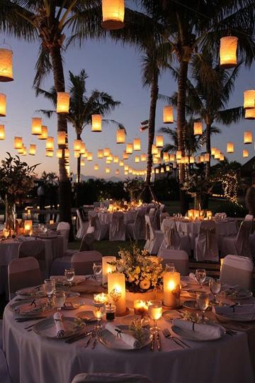 bodas en jardin de noche decoracion