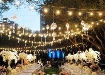 Decoracion para bodas en jardin de noche al aire libre