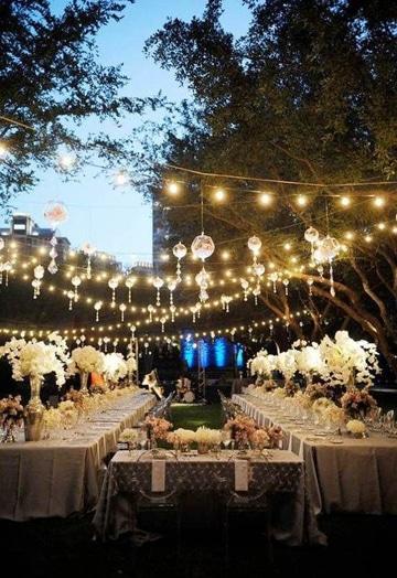 Decoracion para bodas en jardin de noche al aire libre for Boda en un jardin de noche