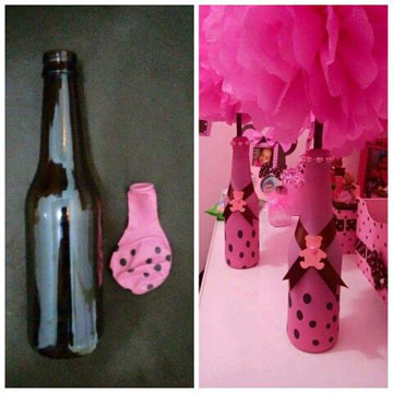 botellas decoradas con globos imagenes