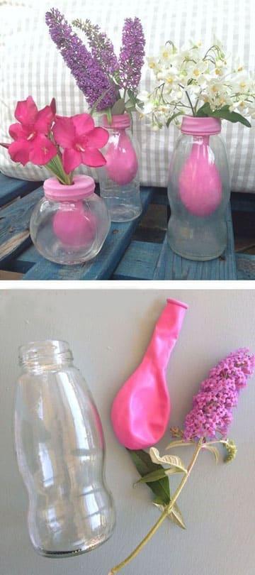 botellas decoradas con globos paso a paso