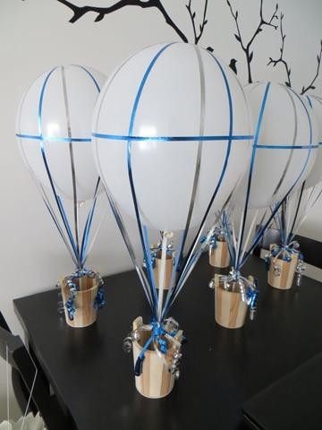 centro de mesa infantil para varon globos