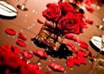Arreglos y centros de mesa con rosas rojas naturales