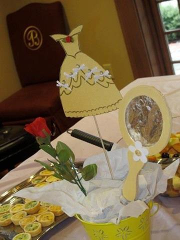 centros de mesa de la bella y la bestia para cumpleaños