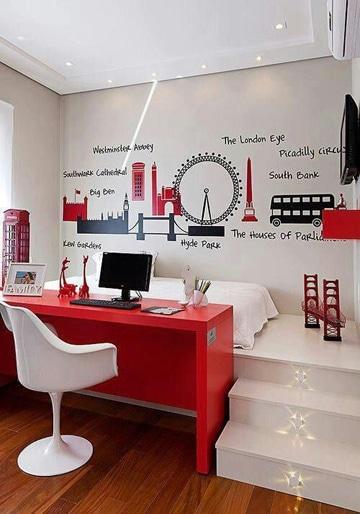 como decorar habitaciones pequeñas adolescente