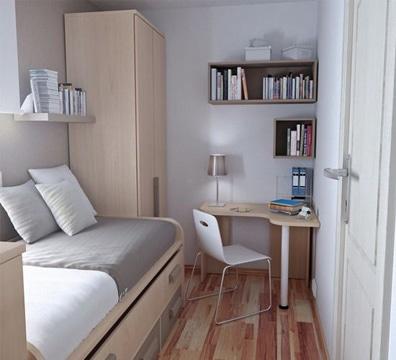 como decorar habitaciones pequeñas una cama