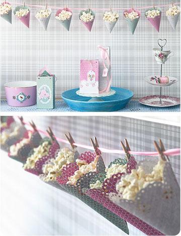 como hacer conos de papel para dulces