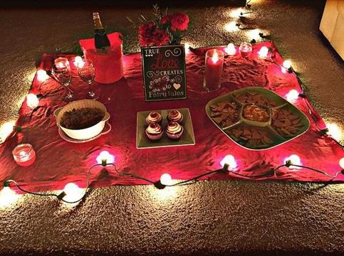 como preparar una cena romantica en casa sencilla