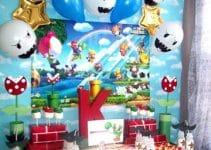 Accesorios de decoracion de mario bros para cumpleaños