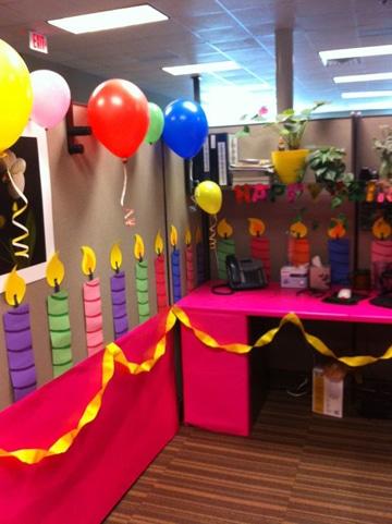 decoracion de oficina para cumpleaños para mujer