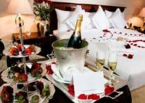 Decoracion para noche romantica en habitaciones y cena