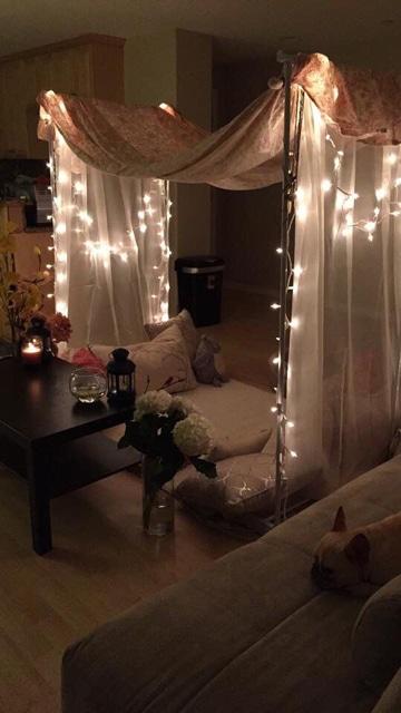 decoracion para noche romantica intimo