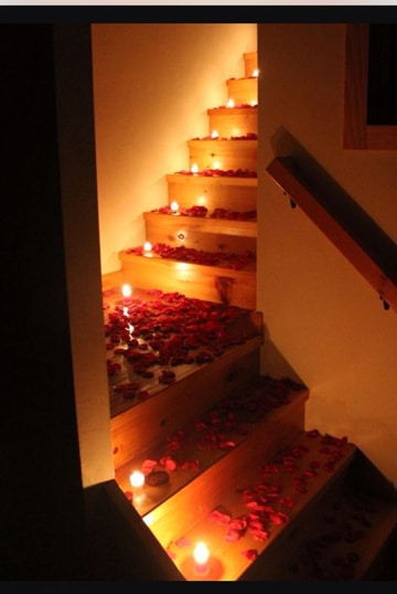 decoraciones para el 14 de febrero escaleras