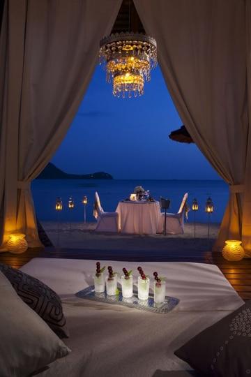 decoraciones romanticas para hombres al mar