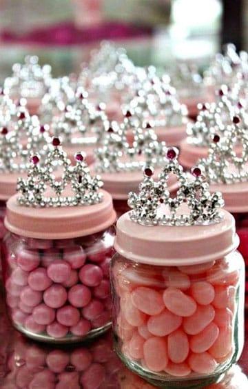 frascos de vidrio para souvenirs de princesa