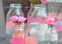 Manualidades con frascos decorados para cumpleaños de vidrio