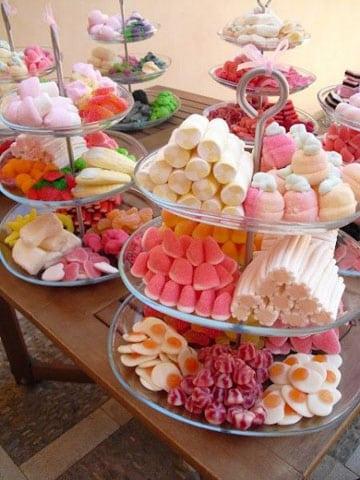 golosinas para candy bar en onces