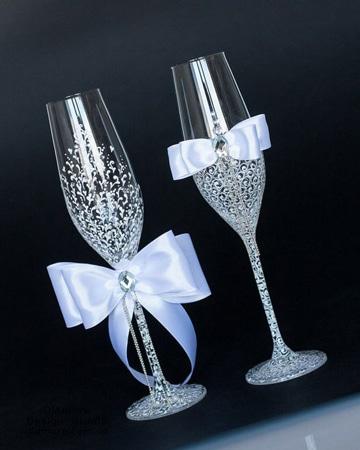 imagenes de adornos para boda copas