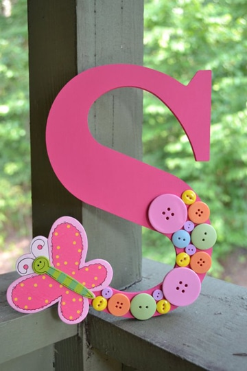 letras decoradas infantiles de madera