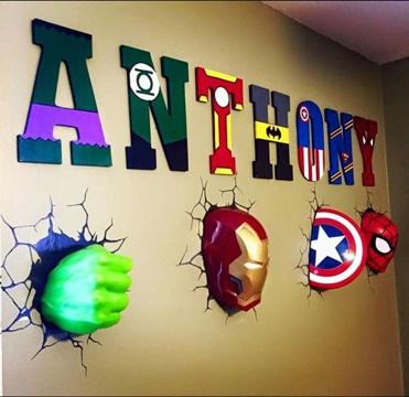 letras decoradas infantiles diseño