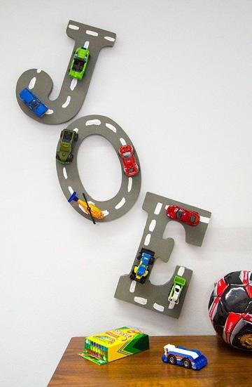 Abecedario en letras decoradas infantiles de madera y papel for Cuartos decorados minecraft