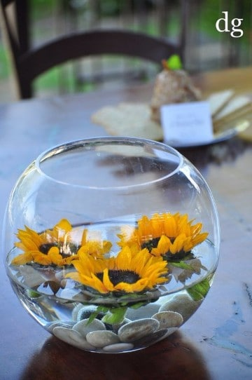 peceras de vidrio para centros de mesa de fiestas