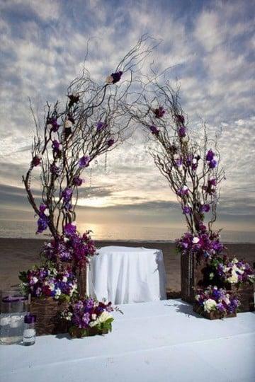 ramas de arboles para decorar mesas