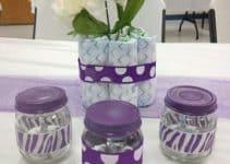 Dulceros y recuerdos con frascos de gerber para cumpleaños