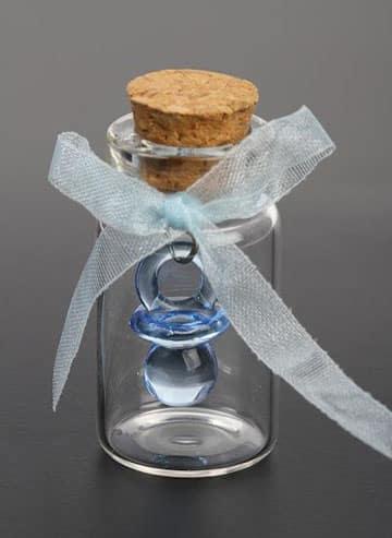 souvenirs con frascos de vidrio bautismo