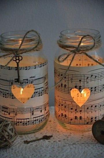 souvenirs con frascos de vidrio vela