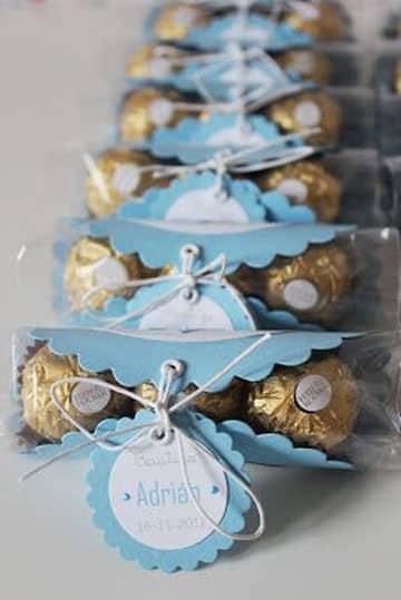 souvenirs de bautismo para varon con dulces