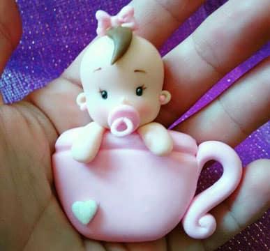 souvenirs para bautismo de nena en porcelana