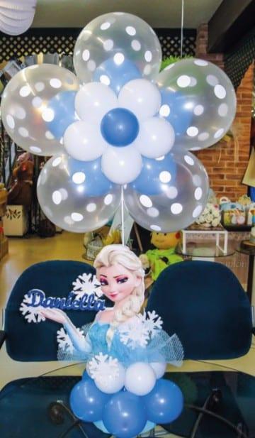 Decoracion con globos frozen para fiesta infantil for Globos decoracion fiestas